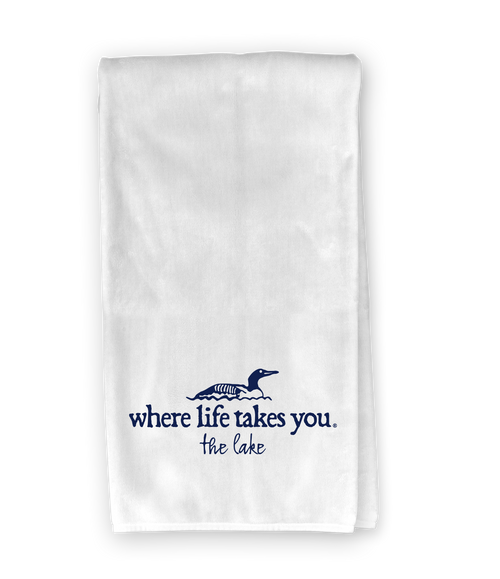 Loon (the lake) Kitchen Towel - Where Life Takes You