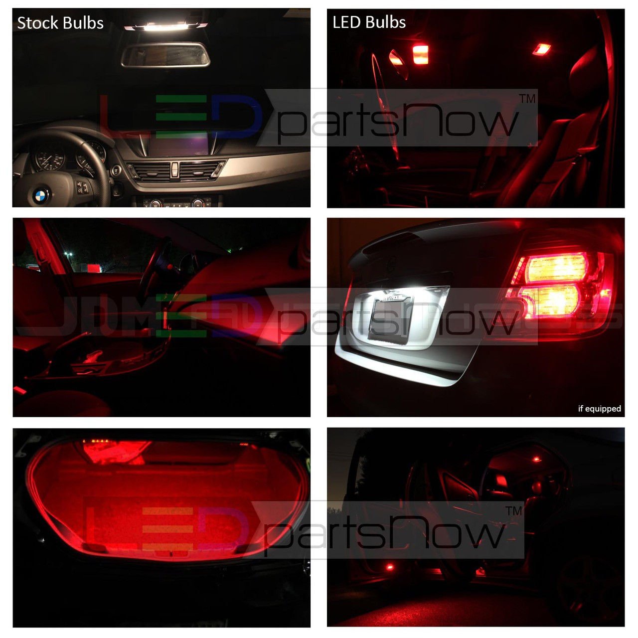 2006 2012 Ford Fusion Interior Led Lights Package