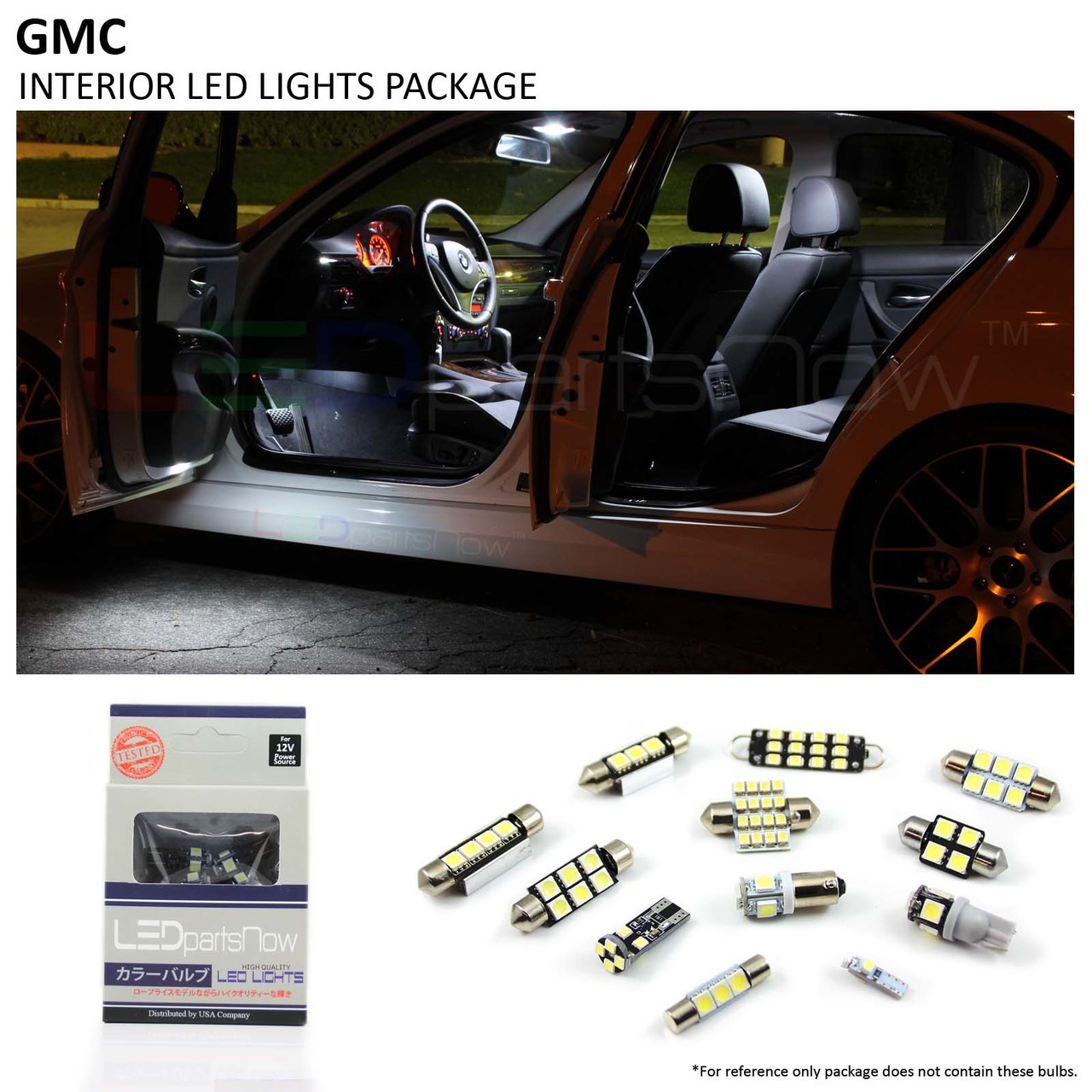 12x Blue LED Lights Interior Package Deal For 2004-2010 2011 2012 GMC Canyon