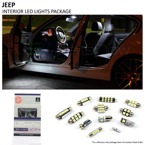 2007-2016 JEEP Compass LED Interior Lights Package