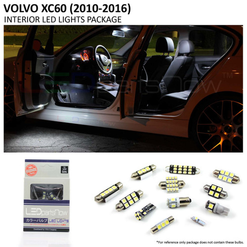 2010-2016 Volvo XC60 LED Interior Lights Package