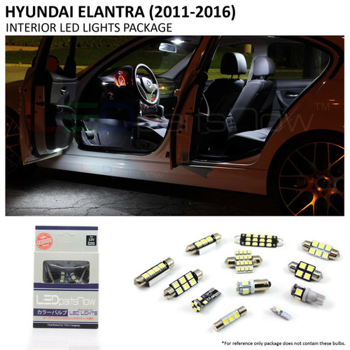 2011-2016 Hyundai Elantra LED Interior Lights Package