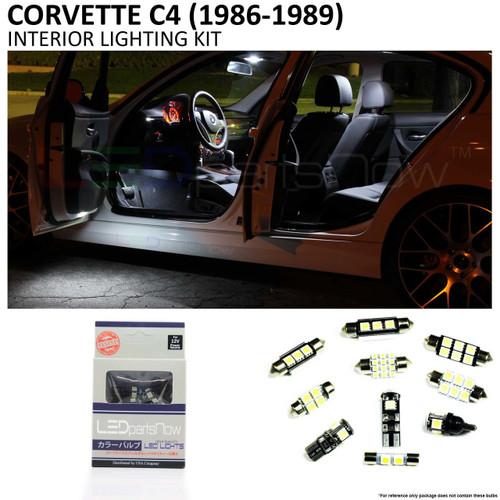1986-1989 Corvette C4 Convertible LED Interior Lights Package