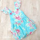 Ruffle Romper Teal - Size 2