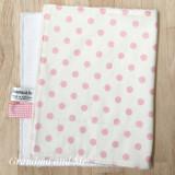 White/Pink Spot Burping Rug