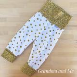 9-18m Gold Glitter Pants