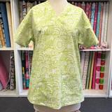 Green Print Scrub Top size 2/M