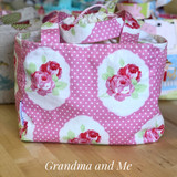 Pink Sunshine Roses Lunch Tote