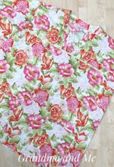 Pretty Floral Scrub Top - 4/XL