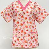 Pink/Orange Flowers 3/L