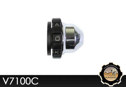 KAOKO Motorcycle Throttle Stabilzers for Moto Guzzi Bellargio 940 (chrome Ends)