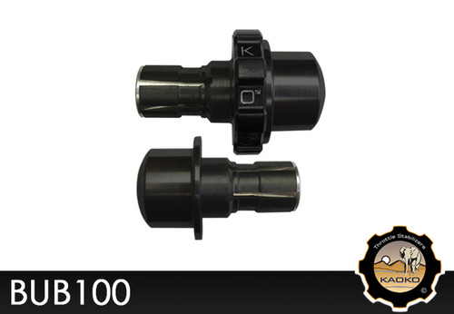 KAOKO Motorcycle Throttle Stabilzers for Buell Lightning XB12S with Rizoma handlebars and Rizoma Bar-End Mirrors mounting kit : Special Order Item : (incl. matching left hand side Bar-End Weight : black finish)