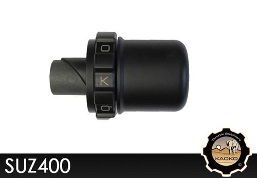 KAOKO Motorcycle Throttle Stabilzers for Suzuki Burgman AN650 (with black painted bar weights)
