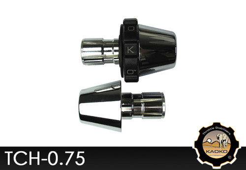 KAOKO Motorcycle Throttle Stabilzers for Honda VT750C with chrome bar end weight
