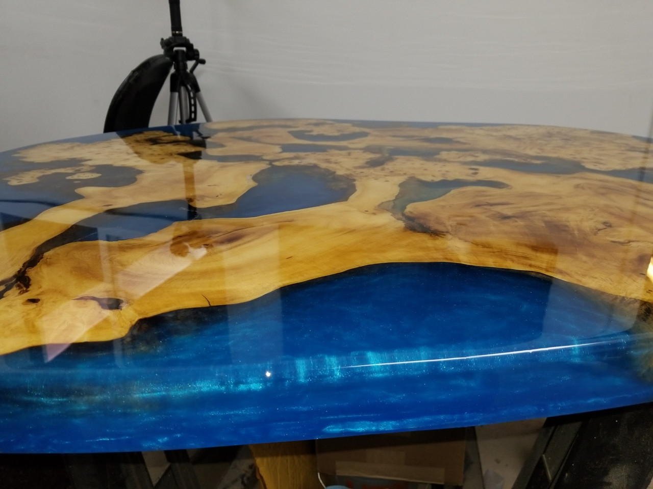 Stone Coat Counter top Buckeye burl table top