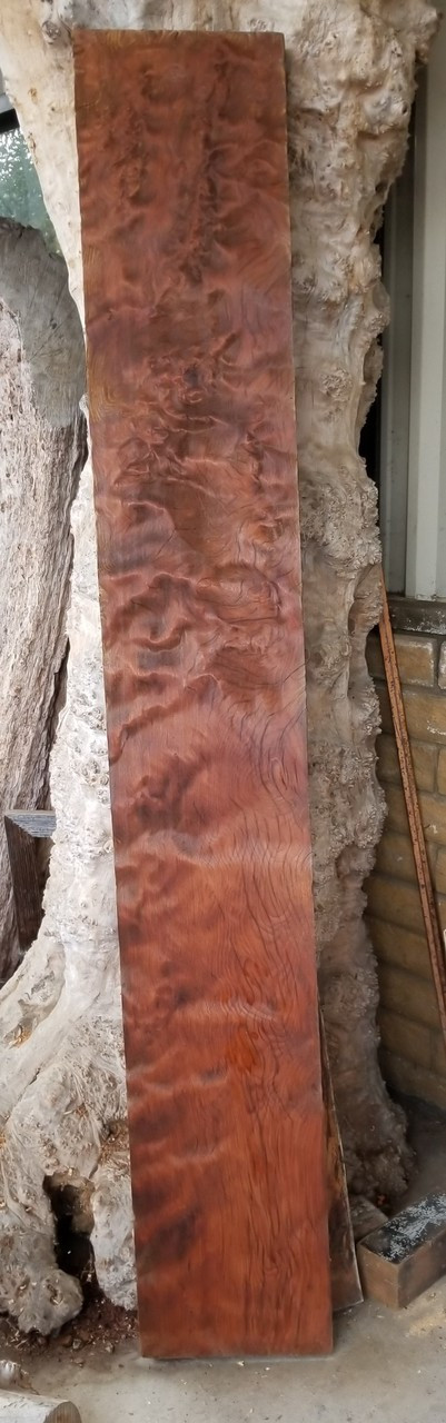 Historical Old Growth Curly Redwood RED14c04