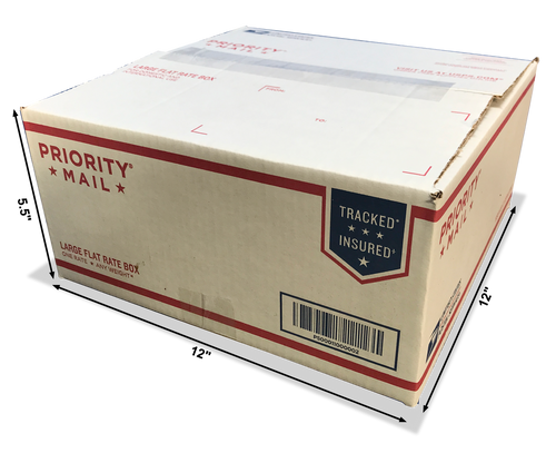 "Large Flat Rate Box of Random Cut Offs - 12""x12""x5.5"" Box (USPS Shipping ONLY)"