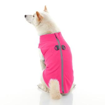 Gooby Zip Up Fleece Vest Pink
