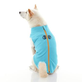 Gooby Zip Up Fleece Vest Turquoise