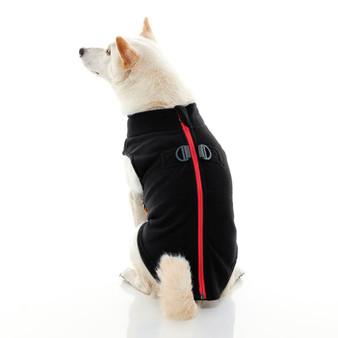 Gooby Zip Up Fleece Vest Black
