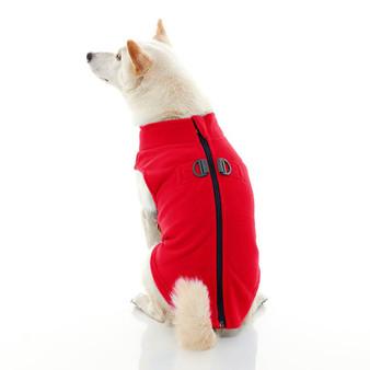 Gooby Zip Up Fleece Vest Red