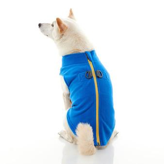 Gooby Zip Up Fleece Vest Blue