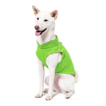 Gooby Fleece Vest Lime Green