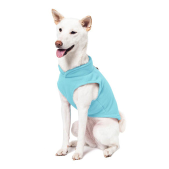 Gooby Fleece Vest Turquoise