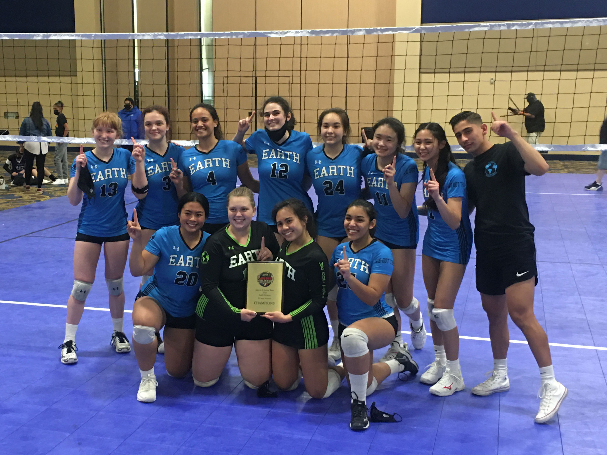 Earth Volleyball 17-1 Team 2021 Jam On It Spring Bash Grand Prix 2021 Gold Champtions