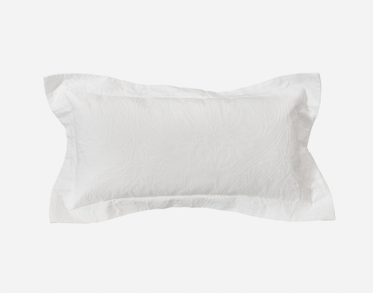 Astoria White Ogee Boudoir Cushion Cover with one inch flange