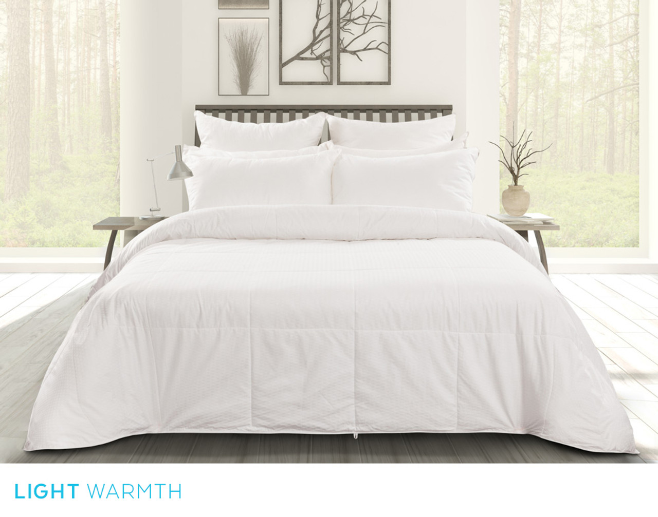 Pearl Mulberry Silk Duvet, front view