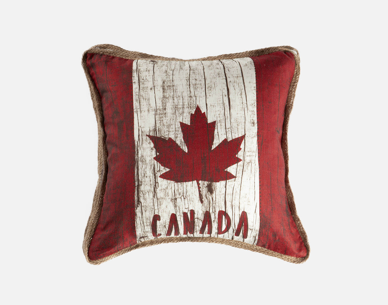 Wood Flag - Linen Look Square Cushion Cover