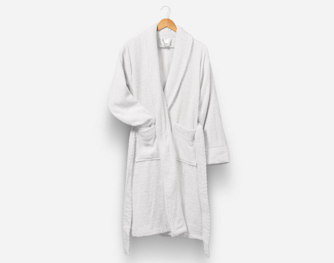 Cotton Bathrobe in White.