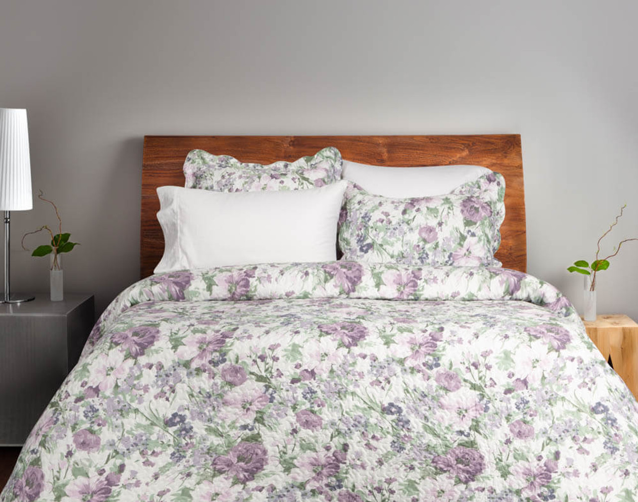 Brittany Floral Coverlet Set Qe Home