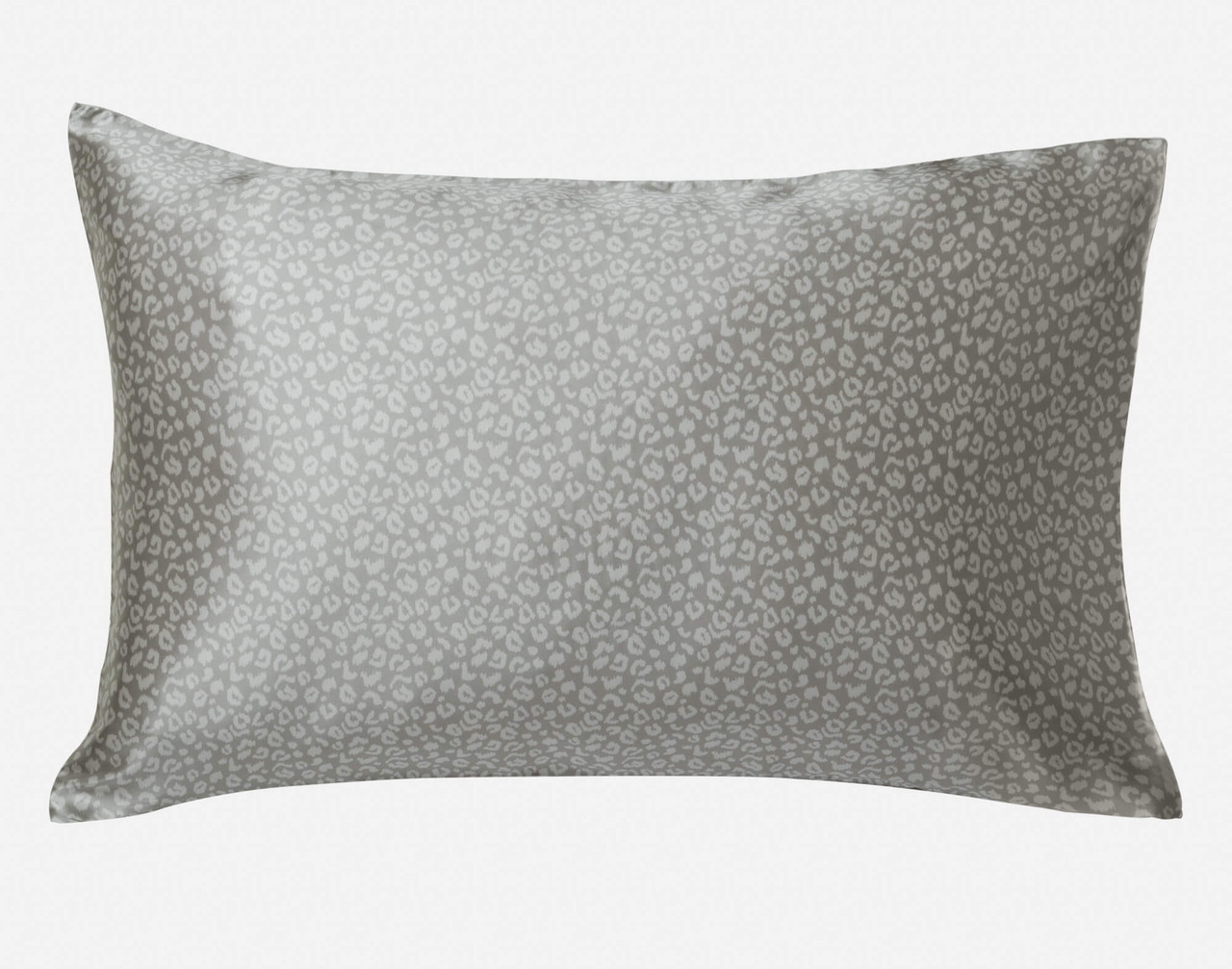 100% Mulberry Silk Pillowcase in Silver Leopard.