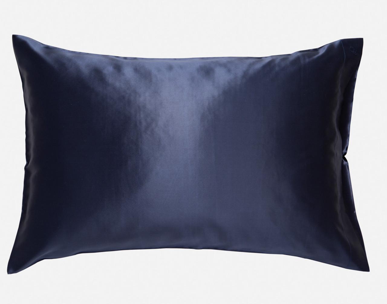 100% Silk Pillowcase in Navy Blue.