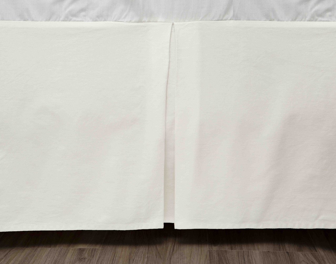 Cotton Twill Bedskirt in Cloud, off white