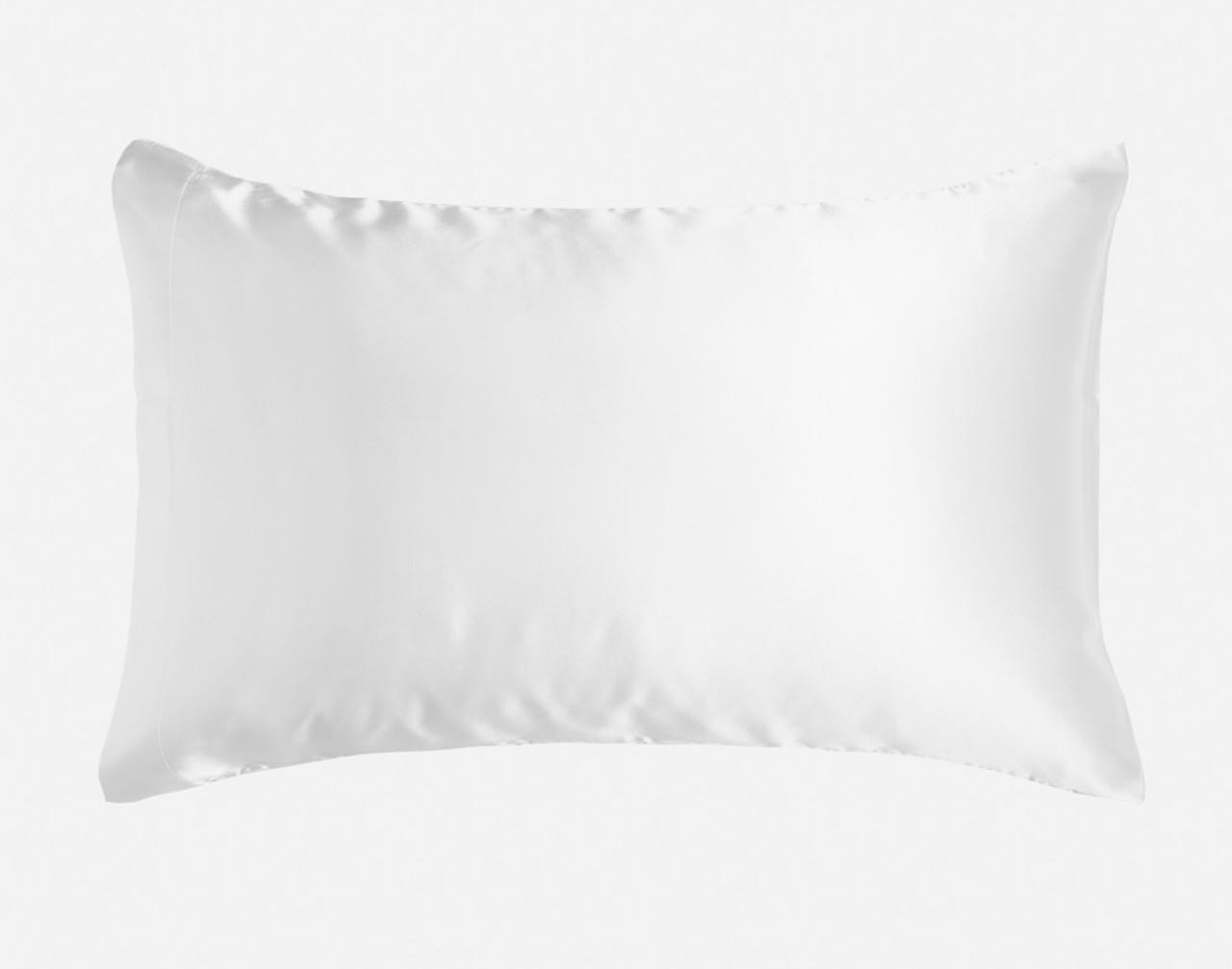 White Pillowcase in Queen size over a pillow