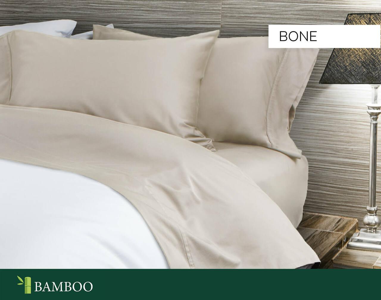 Bamboo Cotton Sheet Set in Bone, a light beige