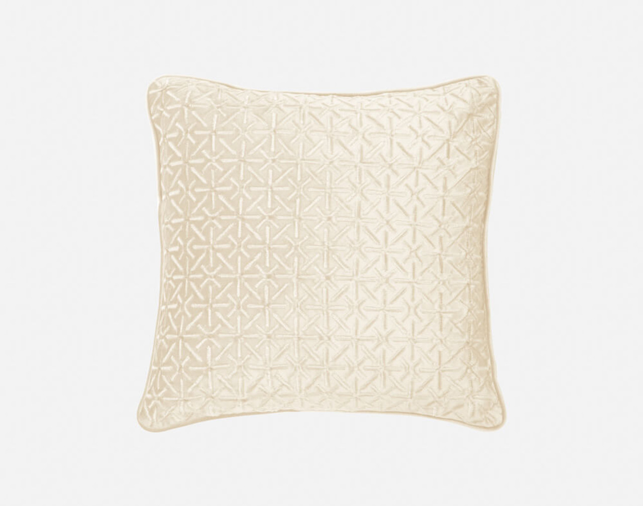 Front view of our Trellis Velvet Square Cushion Cover in Cloud.