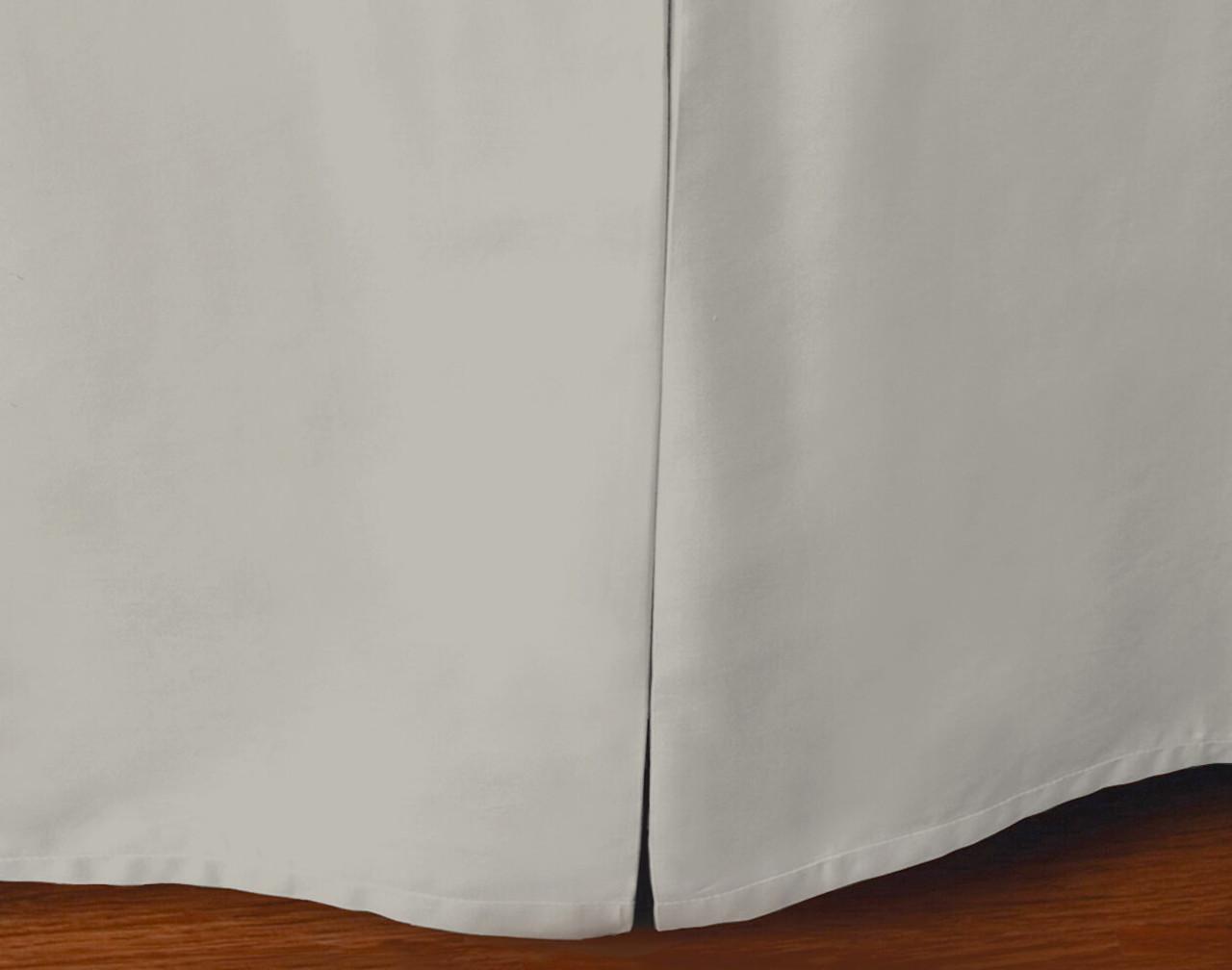 Cotton Blend Bedskirt in Silver.