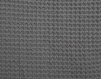 Front view of Cotton Waffle Blanket in Charcoal.