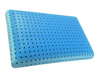 Close-up view of MLILY® Cool Blue Memory Foam Pillow interior.