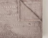 Cable Knit Blanket - Granite