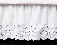Ruffled Eyelet Bedskirt