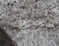 Frosted Shaggy Throw in Titanium Grey with velour reverse.