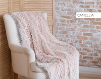 Frosted Shaggy Throw in Camellia Pink