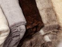 Silver Lynx Faux Fur Throw