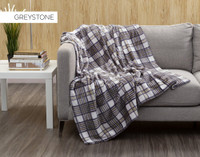 Inverness Plaid Throw in Greystone