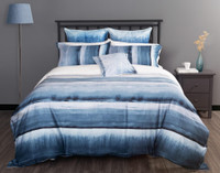 Ultramarine Duvet Cover in a grey bedroom